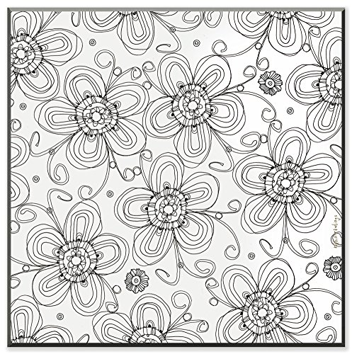 UPC 049182871244, The Stupell Home Decor Collection Posie Pattern DIY Coloring Wall Plaque