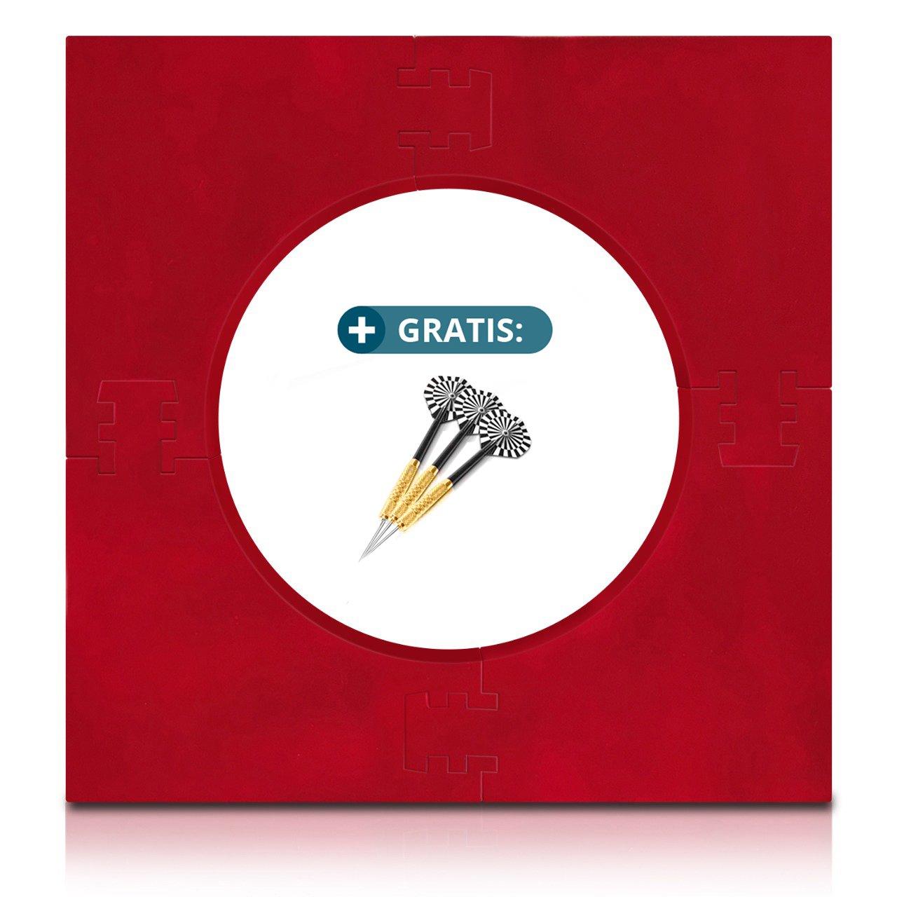 Dart Surround für alle Marken-Dartscheiben – Dart Auffang-Ring in Schwarz – hochwertige stabile Umrandung – Wandschutz für das Dartboard ohne Zusatzbefestigung – professionelle Optik – von ProDarts