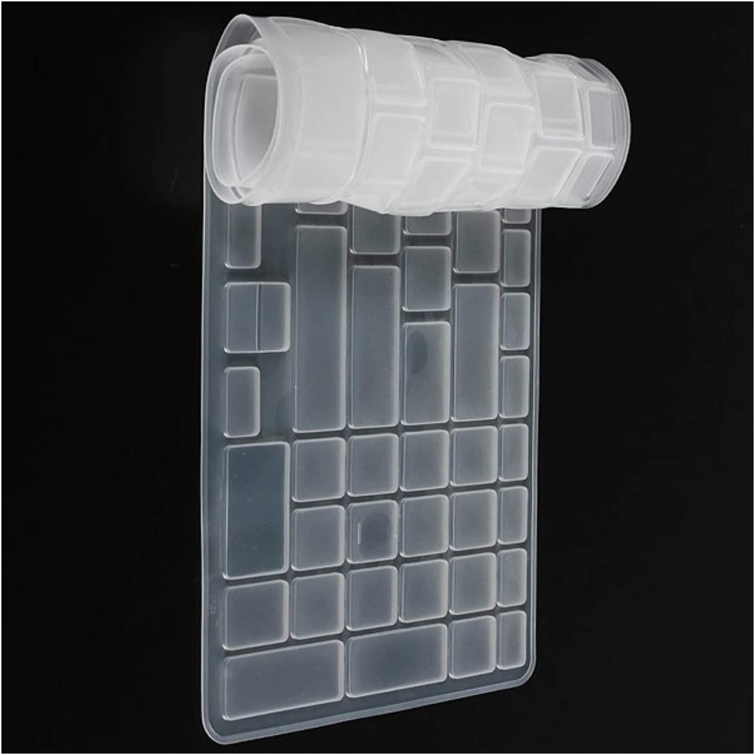 Keyboard Dust Cover Silicone Protector Transparen Skin Film for Dell New 15R N5110 M5110 -Clear White