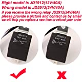 ARTGEAR JD1912 Car Relay Harness 12V 40A 4 Pin SPST Harness Sockets with Color-Labeled Wires for Automotive Truck Van Motorcycle Boat