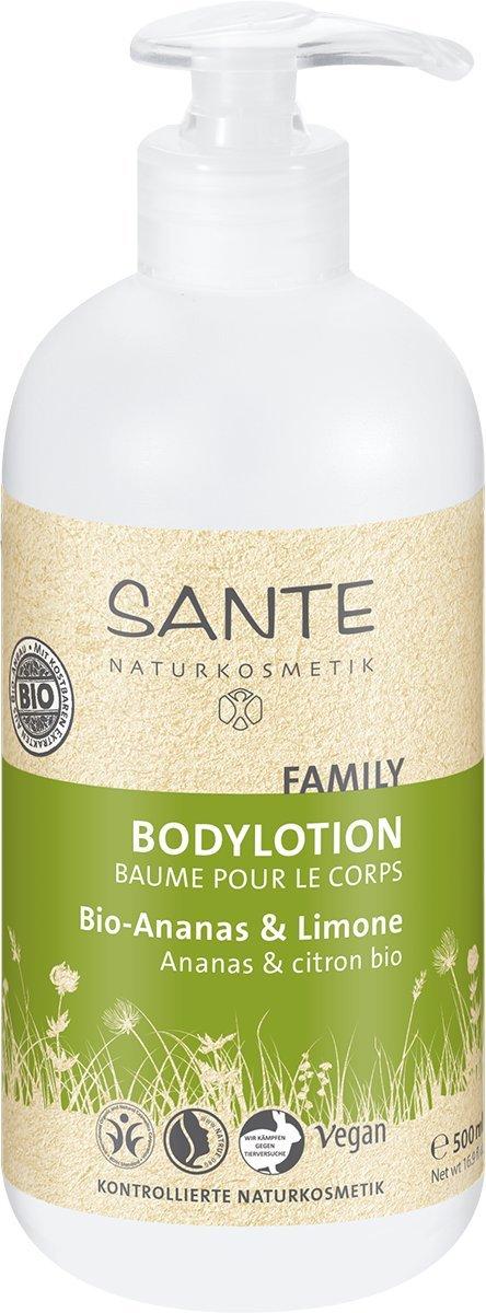 SANTE Naturkosmetik Bodylotion Bio Ananas & Limone, Geschmeidige Haut, Zartweich & pflegend, Vegan, Bio-Extrakte, 500ml 59959