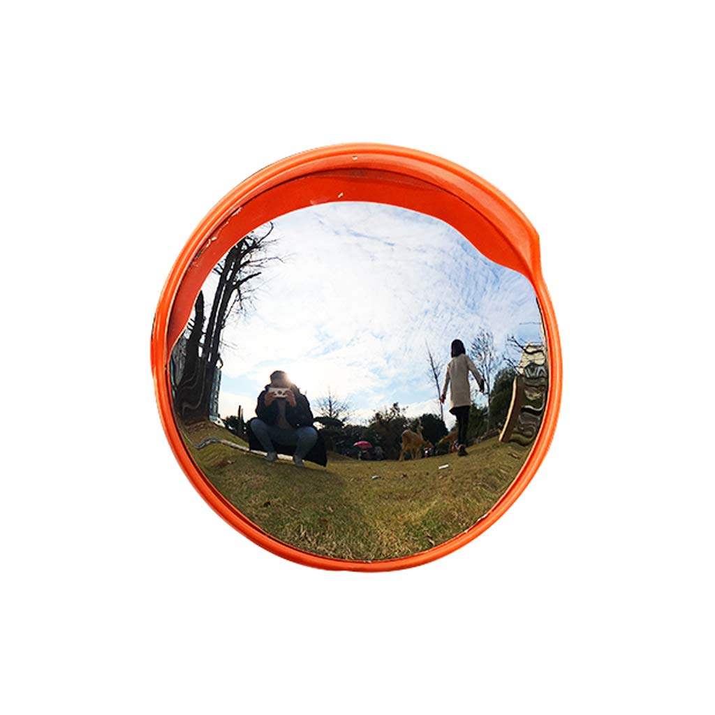 MIRROR Outdoor Traffic Wide-Angle Lens,Outdoor Traffic Road Round Blind Spot Convex Mirror Garage Crossroads Panoramic Garage Exit Turning Safety Mirrors Blind Spot Mirrors,45cm