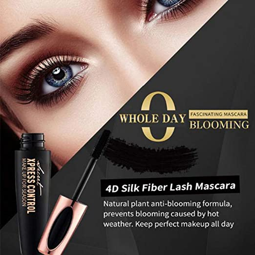 Amazon.com : 4D Silk Fiber Eyelash Mascara Extension Makeup Black Waterproof Kit Eye Lashes Yiitay Mascara Cream Makeup Lash Cold Waterproof Mascara Eye ...