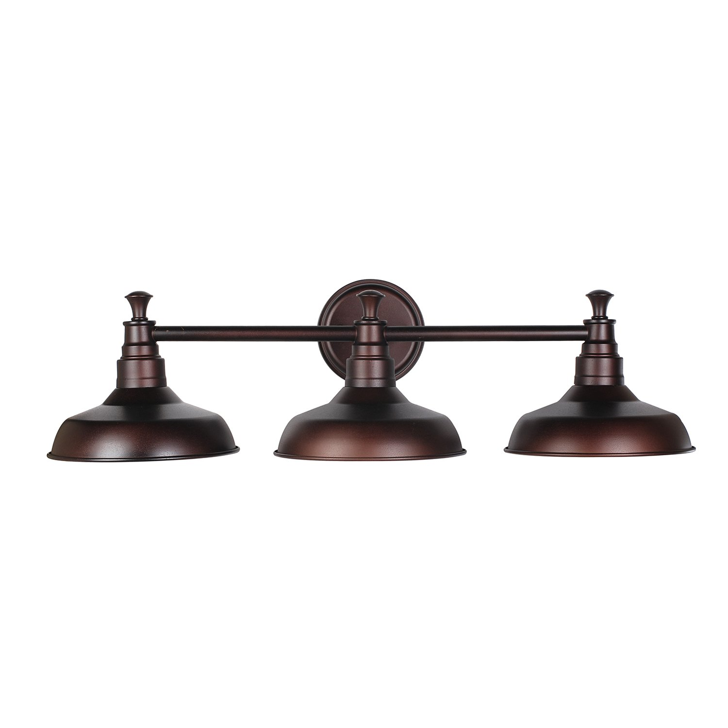 Bathroom vanity lights brushed nickel - Design House 520320 Kimball 3 Light Vanity Light Bronze