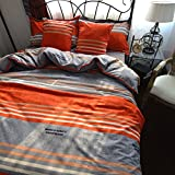 Bohemia Bedding Set Full - 100% Cotton Brushed Material American Design Fitted Sheet and Duvet Cover