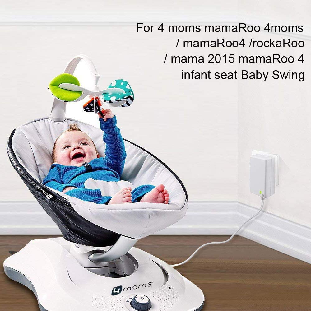 mamaroo 2015 Infant Seat Bouncer Rockaroo Baby Swing Charging Plug Replacement 8.5Ft Length AlloverPower 8.5Ft 12V 3A AC Adapter Power Cord Charger for 4moms mamaroo 2//4 New