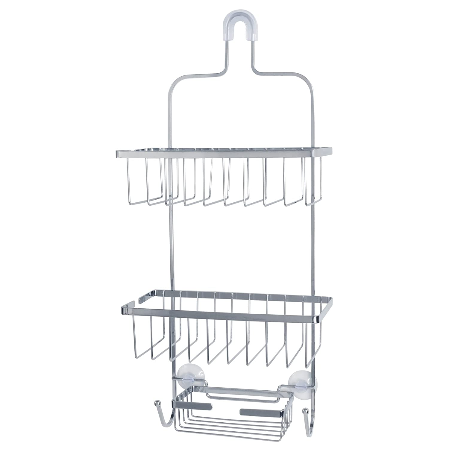 Amazon.com: Deluxe Large Hanging Shower Caddy (Chrome): Home & Kitchen