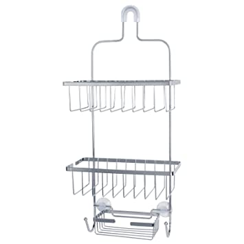 Deluxe Large Hanging Shower Caddy  Chrome. Amazon com  Deluxe Large Hanging Shower Caddy  Chrome   Home   Kitchen
