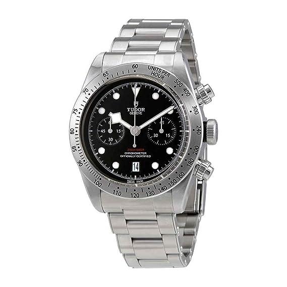 Tudor Patrimonio Negro Bahía Chrono 41 mm Hombres del reloj 79350 - 0001: Amazon.es: Relojes