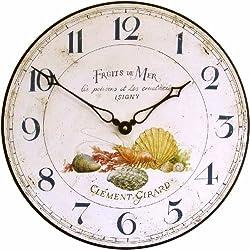 Roger Lascelles Fruits De Mer Wall Clock, 14.2-Inch