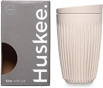 HuskeeCup - Reuseable Coffee Cup (12oz, Natural)