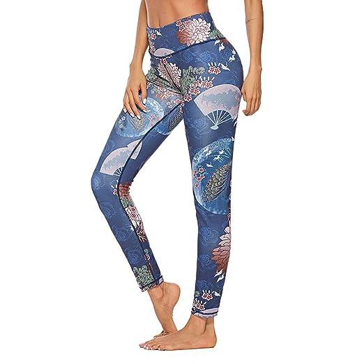 Wuxingqing Medias de Yoga para Damas Estampado de Leggings ...