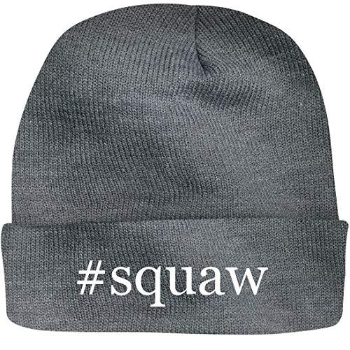 Shirt Me Up #Squaw - A Nice Hashtag Beanie Cap, Grey, OSFA