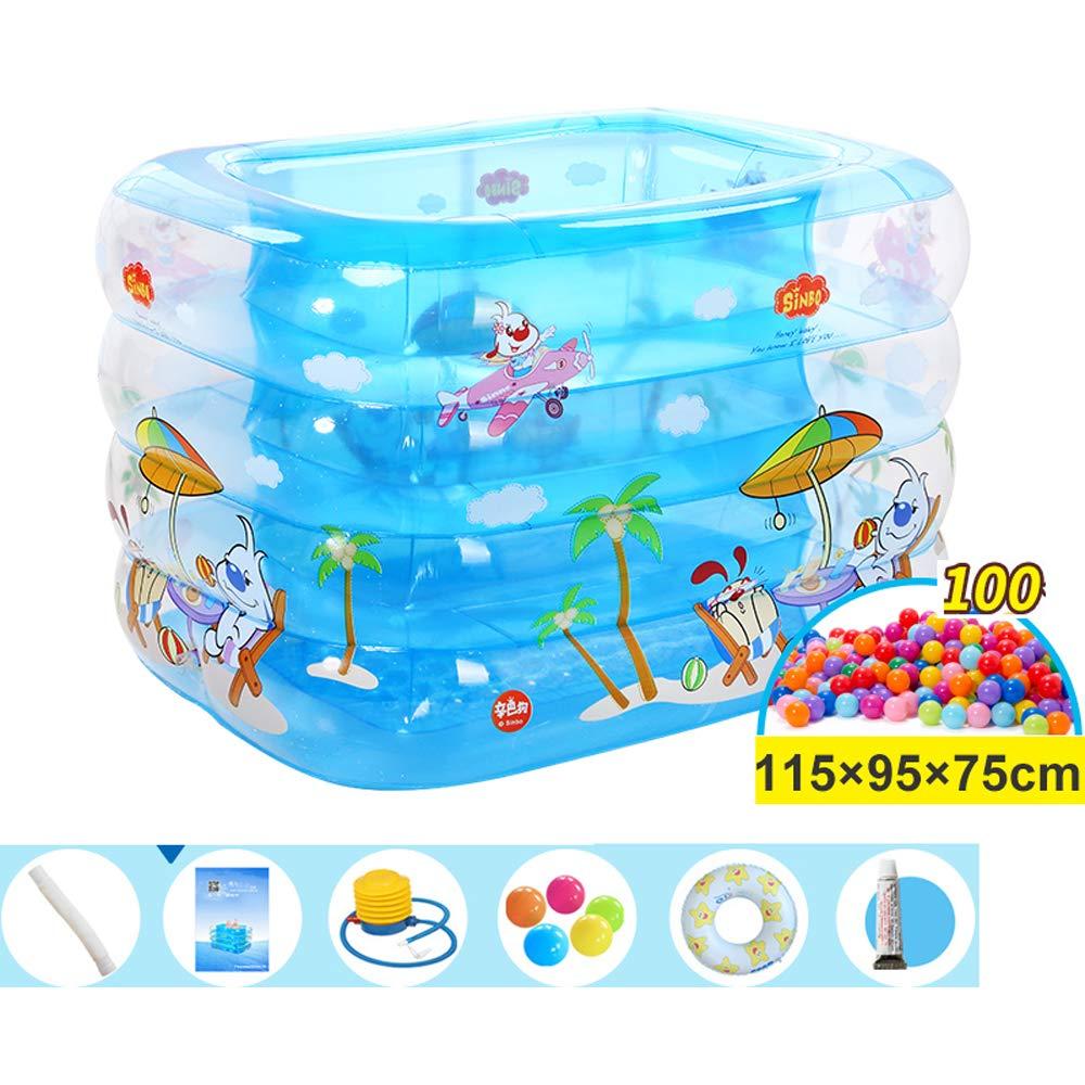 Amazon.com: ZDYG - Bañera hinchable para niños con bola de ...