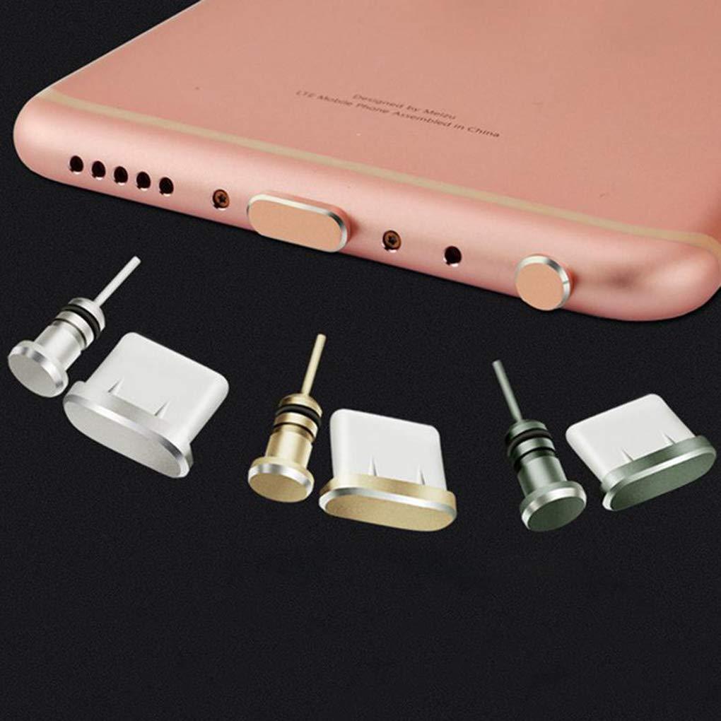 Set del Enchufe del Polvo para Xiaomi Huawei Samsung Tipo C de Carga del Puerto de Auriculares Jack Enchufe del Kit del Polvo del USB Gankmachine Reemplazo 2pcs
