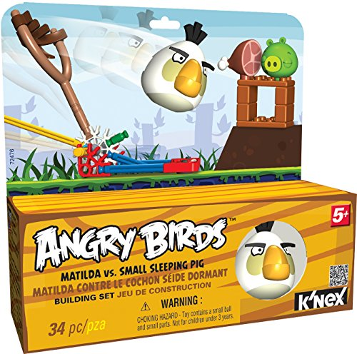 K'NEX Angry Birds Matilda versus Small Sleeping Pig Building Set -