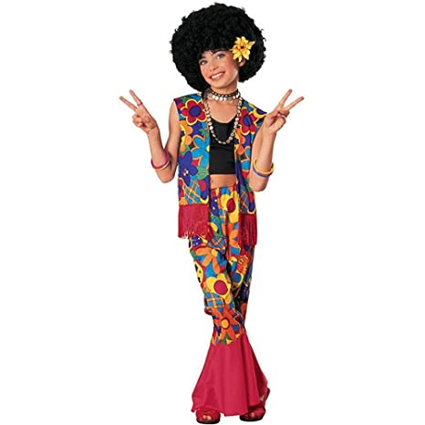 Vintage Style Children's Clothing: Girls, Boys, Baby, Toddler Big Girls Flower Power Hippie Costume $16.92 AT vintagedancer.com