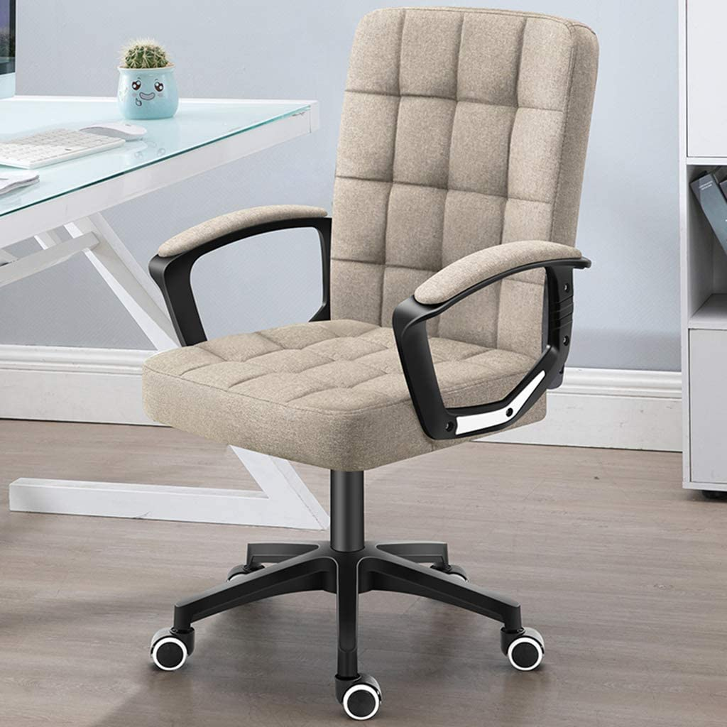 XXQ Executive Office Desk Chair, Thick Padding for Comfort Ergonomic Design for Lumbar Support Office Chair with Metal Frame,F