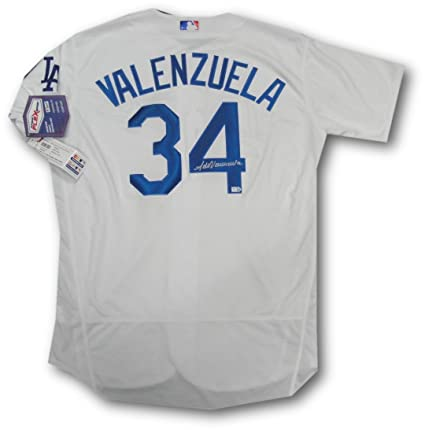 Fernando Valenzuela Hand Signed Auto MLB Official LA Dodgers Jersey MLB  Holo 48 8ceb13f94