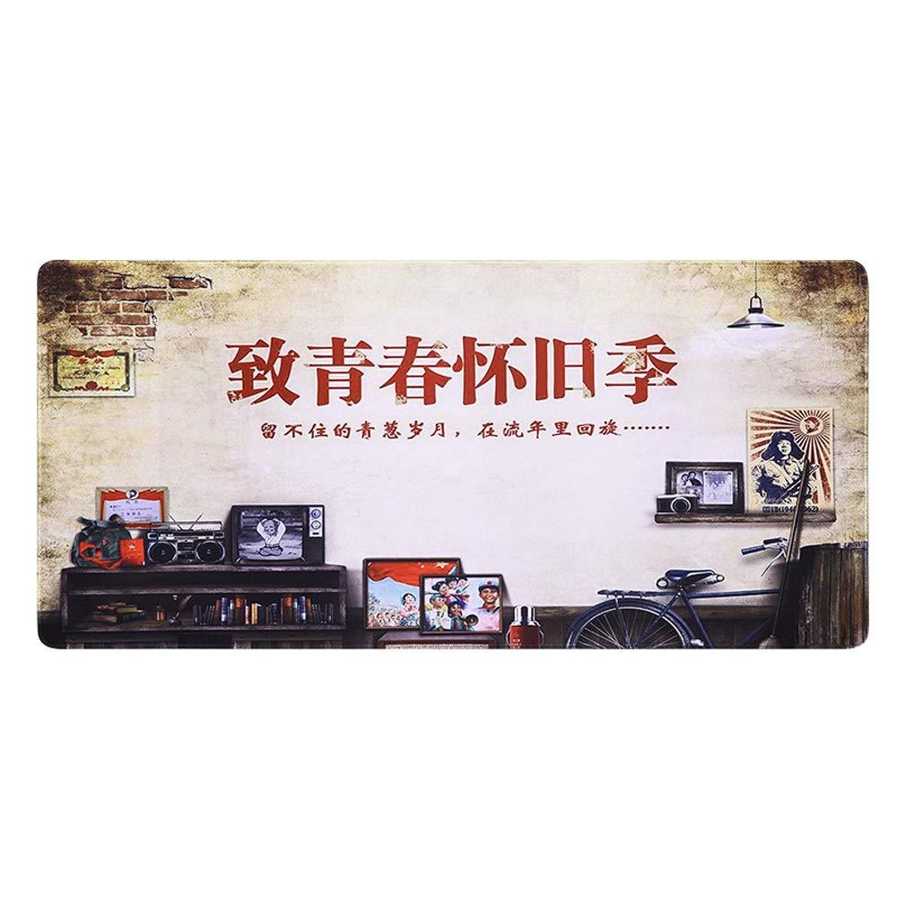 Alfombrilla de ratón Grande Bloqueo del Borde Engrosamiento de Juego de Engrosamiento Ordenador cojín del Escritorio Pad 900  400mm (Color : F, Size : 900  400  2mm) 3a28fe