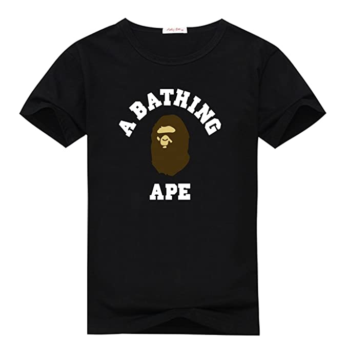 8a8d1abd Zomicky Bape Brown and White Graphic Mens Classic Cotton T-Shirt Top:  Amazon.ca: Clothing & Accessories