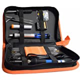Soldering Iron Kit,7-in-1 with Carrying Case Including 60w Temperature Adjustable Soldering Iron, Solder Wire, Solder Sucker, Solder Stand,Screwdriver and Soldering Tips