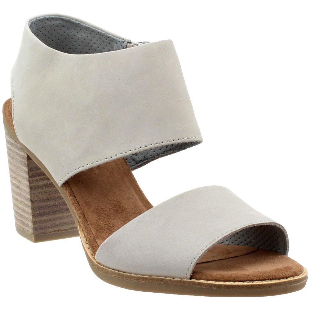 eeb4268de96 TOMS Women's Majorca Cutout Sandal Drizzle Grey Leather 5 B US