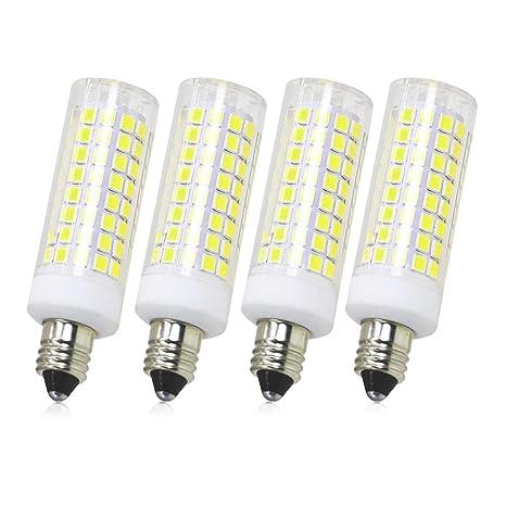 All New Led E11 Bulb Dimmable Jd E11 Candelabra Base Bulbs 75w 80w Equivalent 750lm 120v 7 5w Candelabra Bulbs 102x2835smd 4 Pack Daylight