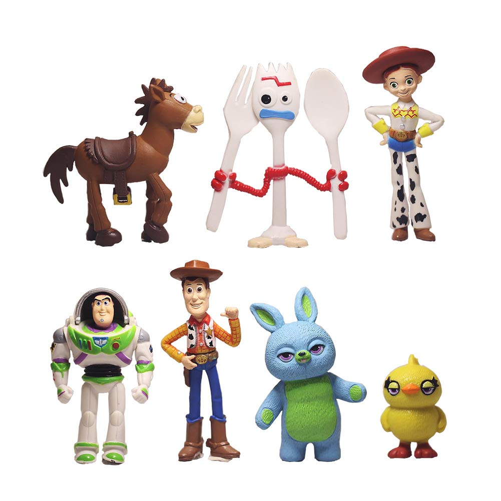 7 PCS Toy Story Cake Toppers Figurines toy story Cupcake topper Toy Story Party Figurines Cartoon Action Figures cake decoration for Toy Story Party Supplies
