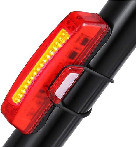 Sunspeed Luz Trasera de Bicicleta USB Recargable Rojo Advertencia ...