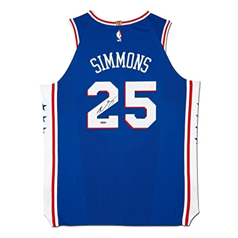 hot sale online 3425c 662ae Ben Simmons Signed Autographed Authentic Nike Jersey Blue ...