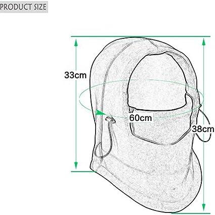 Deggodech Multiusos Pasamonta/ñas Mascara Cuello Termico Capucha Balaclava Face Mask Ajustable Unisex Sombrero de esqu/í para Hombre Mujer Actividades de Invierno al Aire Libre