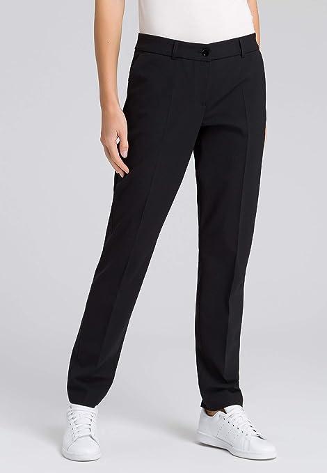 Mujer Pantalones De Tela Mujer Negro 40 Amazon Es Deportes Y Aire Libre