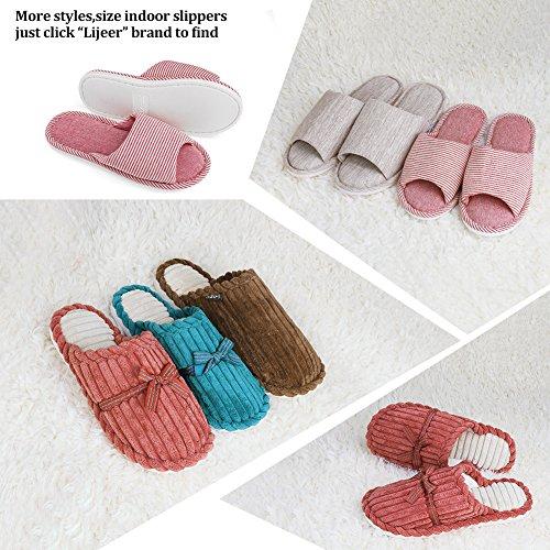 Indoor Men Cozy Flops Slippers Memory Home Warm Flip Women Brown Non House House Foam Slides Slip Shoes Asifn dqctfRwd