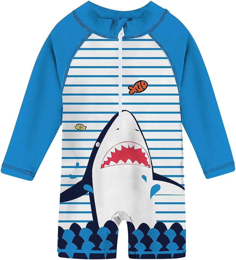 uideazone Baby Toddler Boys Girls Zipper Rash Guard Swimsuit UPF 50+ One Piece Beach Swimwear Bathing Suits 6-36 Months