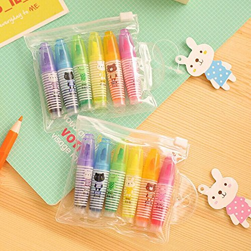 Vann92(TM) [6 Pieces/set] Cartoon Animals Highlighter Pen Markers