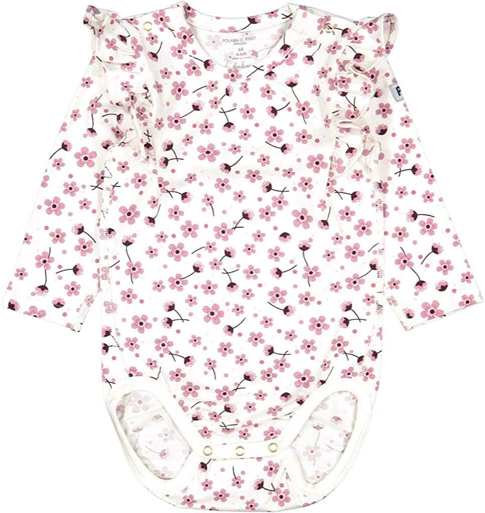 Pyret Cherry Bloom GOTS Ruffle Body Polarn O 0-12MOS