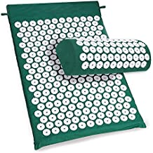 Hindom Acupressure Mat & Pillow Set Effective Remedy for Back/Neck Pain Relief and Muscle Relaxation
