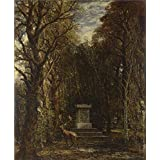 'John Constable Cenotaph to the Memory of Sir Joshua Reynolds ' oil painting, 24 x 29 inch / 61 x 74 cm ,printed on polyster Canvas ,this Best Price Art Decorative Canvas Prints is perfectly suitalbe for Laundry Room decoration and Home decoration and Gifts