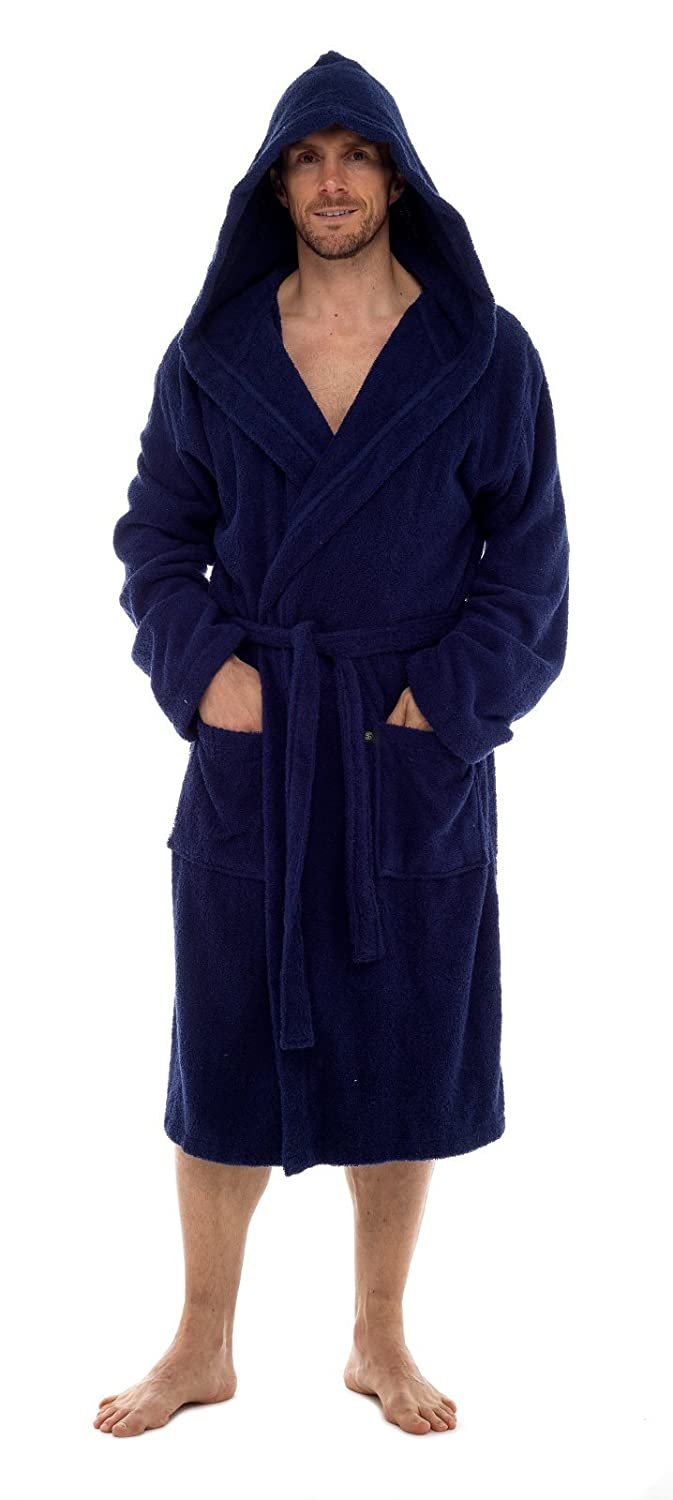 Strong Souls Mens Luxury Hooded Towelling Bathrobe at Amazon Men\'s ...