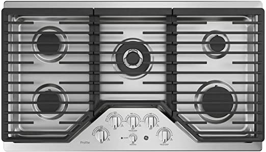 Amazon.com: GE PGP9036SLSS - Encimera de gas (36.0 in): Aparatos