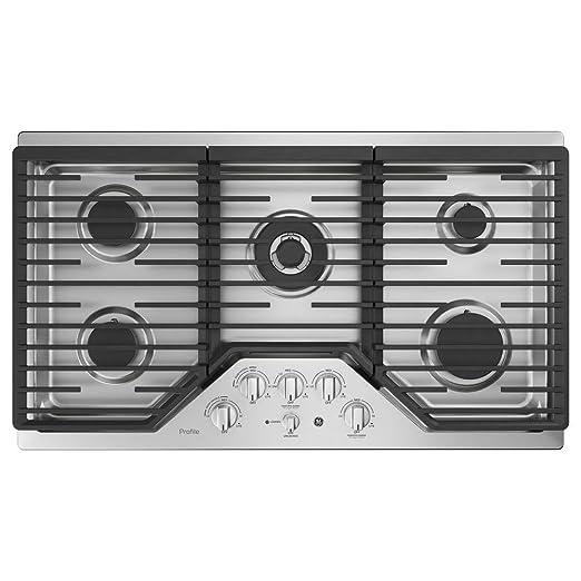 Amazon.com: GE Perfil pgp9036slss 36 inch quemador de gas ...