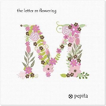 pepita The Letter M Flowering Large Needlepoint Kit