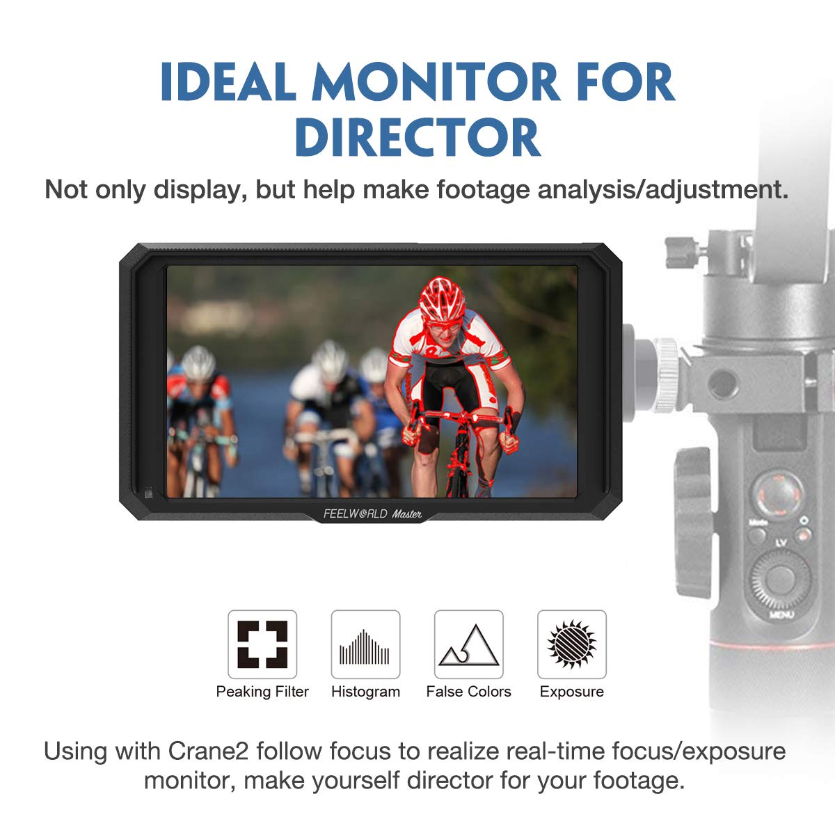 Feelworld Master MA5 5 inch Camera Field Monitor, with 4K HDMI 8V DC in/Out, Full HD 1920x1080 IPS Video Assist for DSLR by FEELWORLD (Image #2)