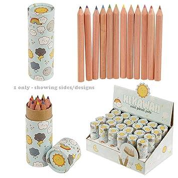 Kawaii - Estuche para lápices con lápices de colores: Amazon.es ...