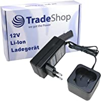 Trade-Shop Akku Ladegerät (12,6V 1,5A Li-Ion) Ladestation Schnellladegerät für BLACK & DECKER BDCDMT112 EGBL108 EGBL108KB GKC108 HPL106 HPL10IM HPL10RS LDX112 LDX112C PSL12