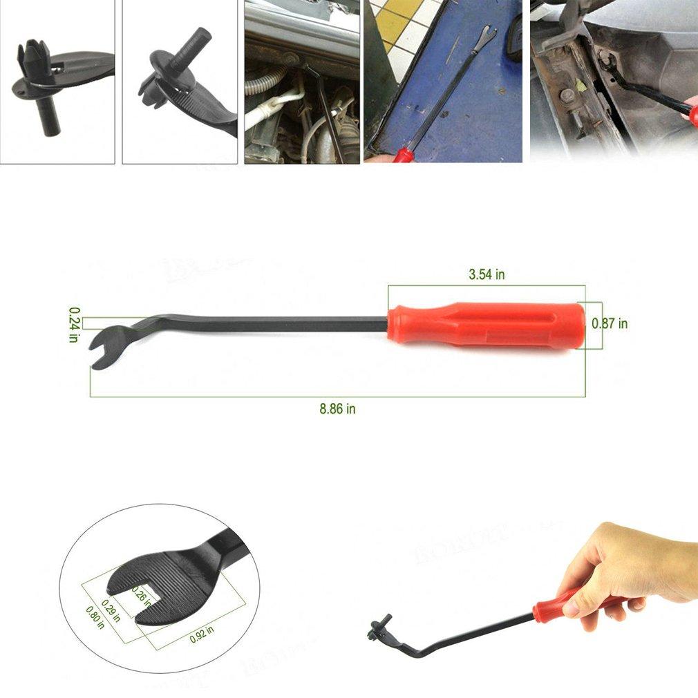 fijadores de pl/ástico para parachoques y guardabarros con herramienta de extracci/ón. tornillos de pl/ástico de remache universales Clips de montaje para paneles de puerta