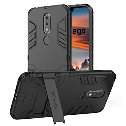 brand new 2d063 5fa4d Ceego Back Cover for Nokia 6.1 Plus - Stealth Defence Back Case for Nokia  6.1 Plus [with Shock Protection & Built-in Stand] – Matte Black