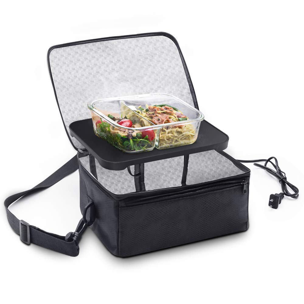 Personal Portable Oven, Mini Food Warmer Electric Lunch Box with Warmer Bag for Meals Reheat in Office, Travel, Potlucks and Home Kitchen by Rottogoon