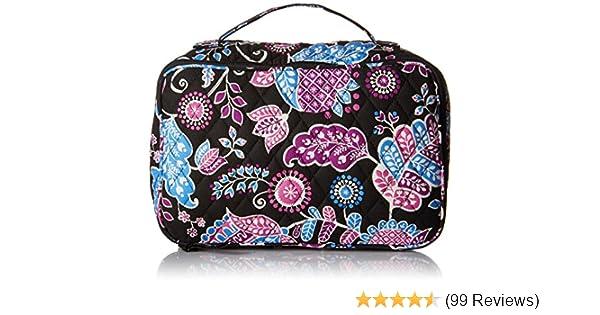 b70898470248 Amazon.com  Vera Bradley Luggage Women s Large Blush   Brush Makeup Case  Alpine Floral Cosmetic Bag  Shoes